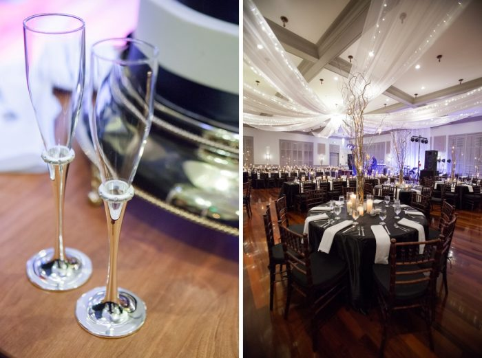 Glamorous Wedding Ideas: Elegant Black & White Wedding at Noah's Event Venue: Mallory & Mark