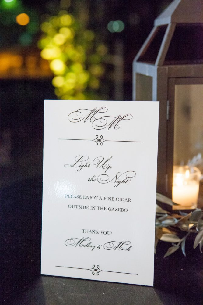 Wedding Sign Ideas: Elegant Black & White Wedding at Noah's Event Venue: Mallory & Mark