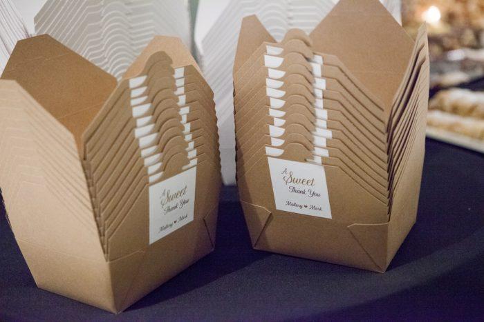 Wedding Favor Ideas: Elegant Black & White Wedding at Noah's Event Venue: Mallory & Mark