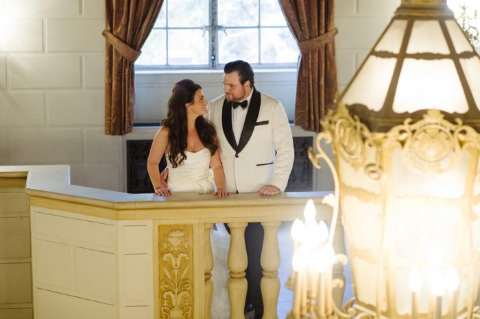 Wedding First Look: Flawless Gold & White Wedding at Fox Chapel Golf Club from Michael Will Photography featured on Burgh Brides