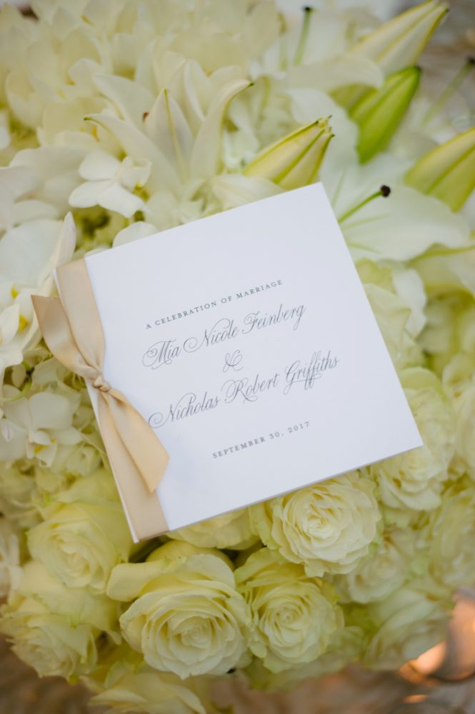 Wedding Ceremony Program Ideas: Flawless Gold & White Wedding at Fox Chapel Golf Club from Michael Will Photography featured on Burgh Brides