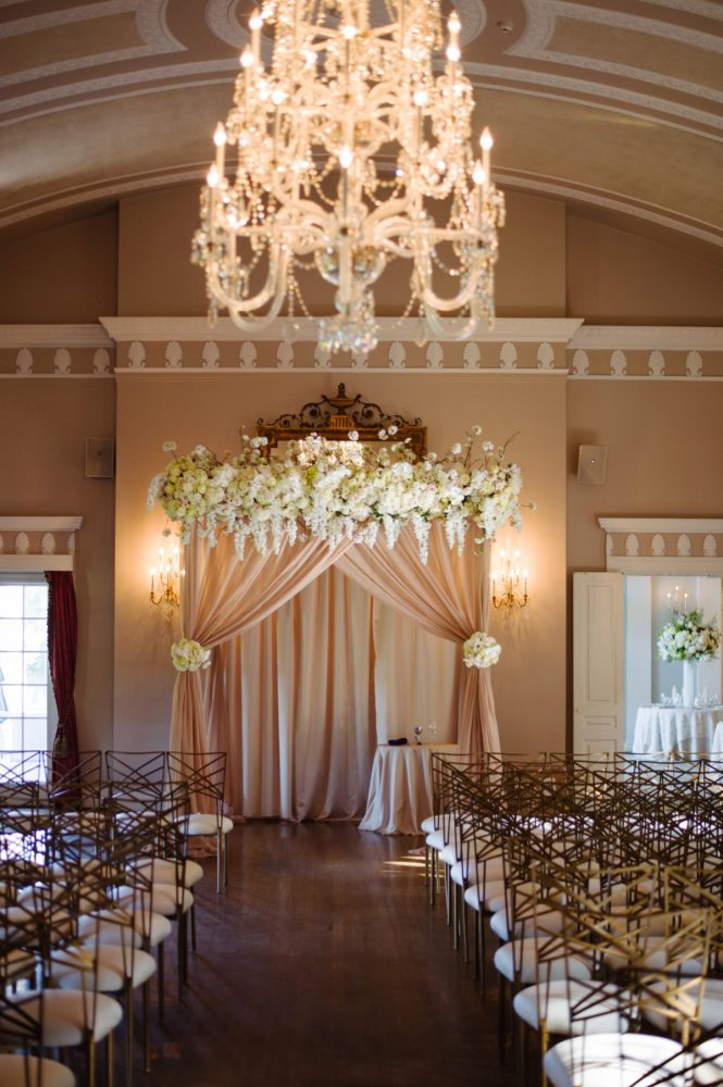 Wedding Ceremony Set Up Ideas: Flawless Gold & White Wedding at Fox Chapel Golf Club from Michael Will Photography featured on Burgh Brides