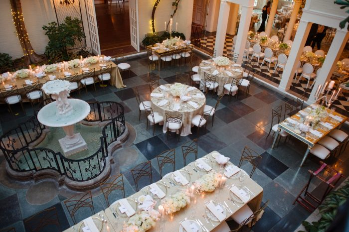 Chic Wedding Set Up Ideas: Flawless Gold & White Wedding at Fox Chapel Golf Club from Michael Will Photography featured on Burgh Brides