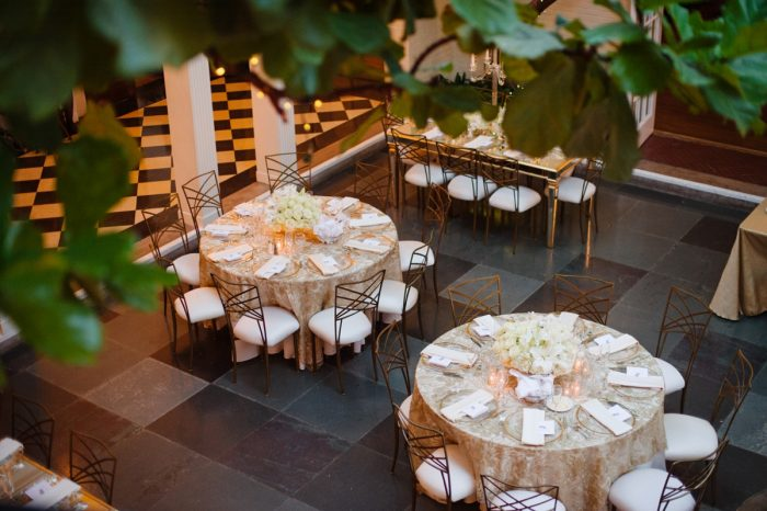 Chic Wedding Tablescape: Flawless Gold & White Wedding at Fox Chapel Golf Club from Michael Will Photography featured on Burgh Brides