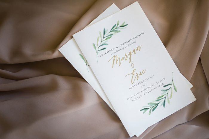 Greenery Wedding Invitations: Greenery Inspired Wedding at the Butler Country Club from Kristen Wynn Photography featured on Burgh Brides
