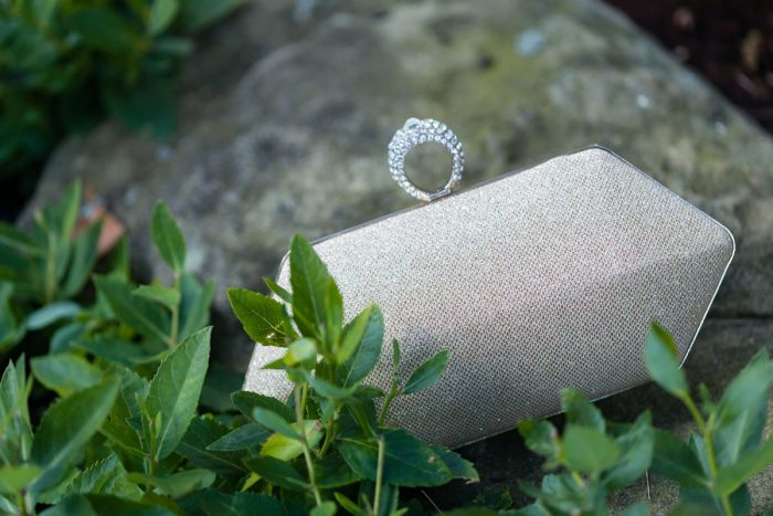 Sparkly Bridal Clutch: Greenery Inspired Wedding at the Butler Country Club from Kristen Wynn Photography featured on Burgh Brides