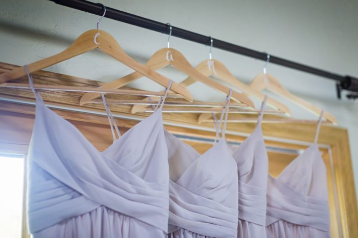 Wooden Bridesmaids Hangers: Greenery Inspired Wedding at the Butler Country Club from Kristen Wynn Photography featured on Burgh Brides