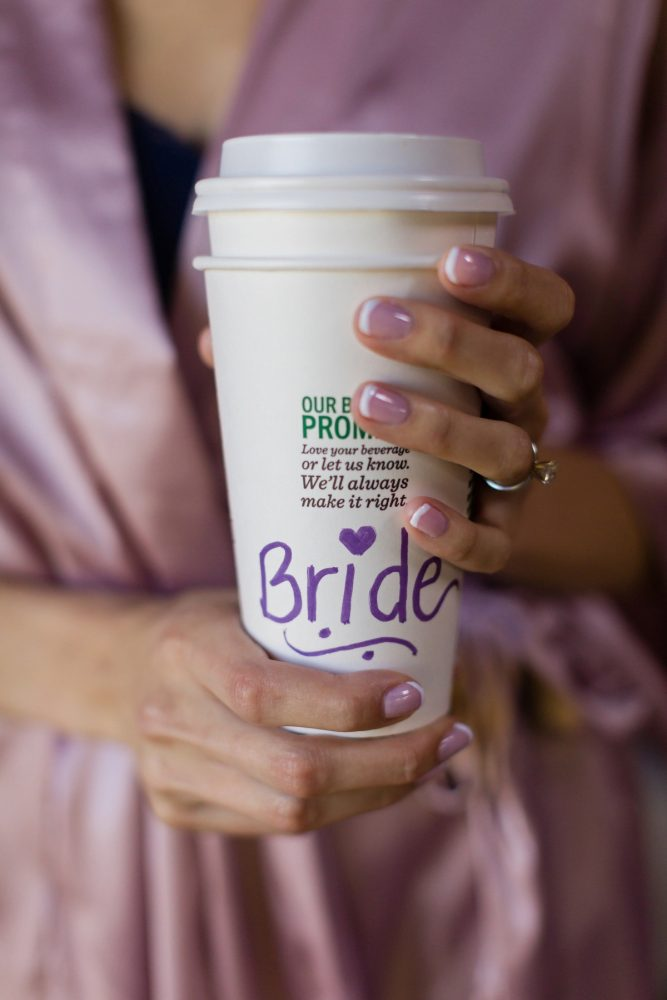 Bride Starbucks Cup: Greenery Inspired Wedding at the Butler Country Club from Kristen Wynn Photography featured on Burgh Brides