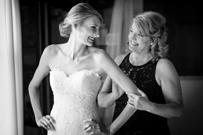Bride and Mother of the Bride: Greenery Inspired Wedding at the Butler Country Club from Kristen Wynn Photography featured on Burgh Brides