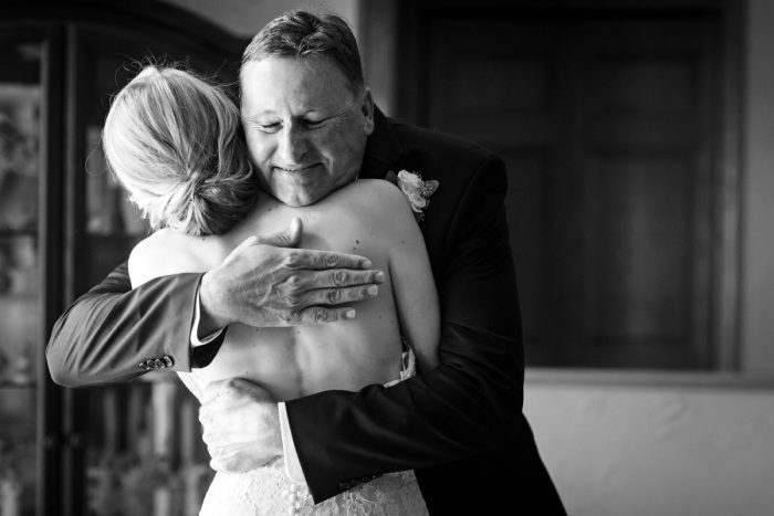 Bride and Father of the Bride: Greenery Inspired Wedding at the Butler Country Club from Kristen Wynn Photography featured on Burgh Brides