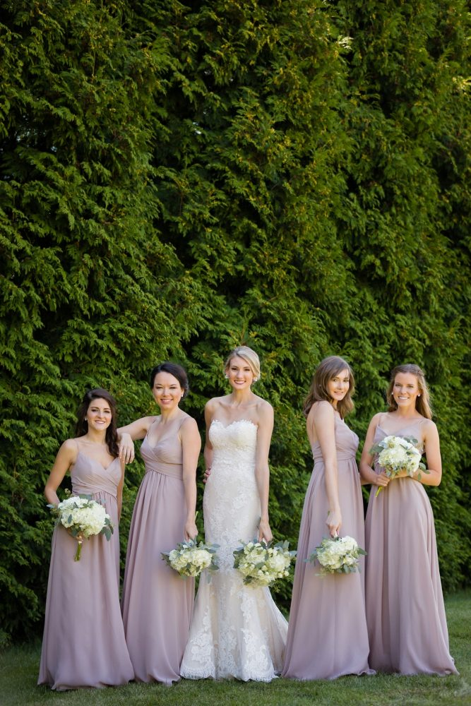 Taupe Bridesmaids Dresses: Greenery Inspired Wedding at the Butler Country Club from Kristen Wynn Photography featured on Burgh Brides