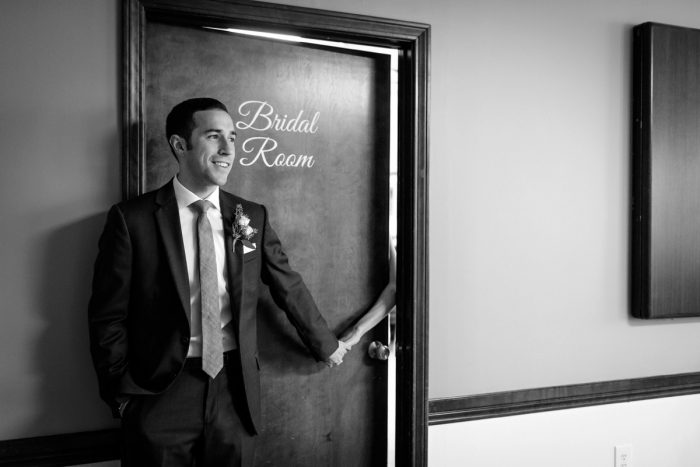Wedding Day First Touch: Greenery Inspired Wedding at the Butler Country Club from Kristen Wynn Photography featured on Burgh Brides