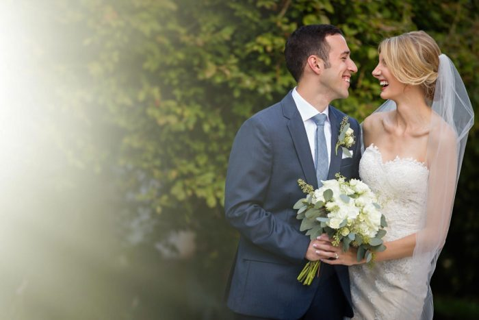 Bride and Groom Portraits: Greenery Inspired Wedding at the Butler Country Club from Kristen Wynn Photography featured on Burgh Brides