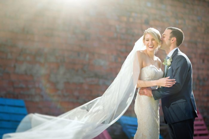 Wedding Veil Shot: Greenery Inspired Wedding at the Butler Country Club from Kristen Wynn Photography featured on Burgh Brides