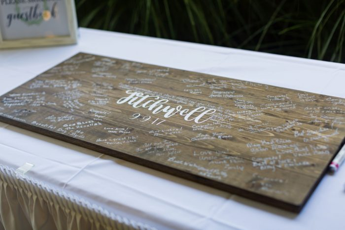 Wedding Guest Book Ideas: Greenery Inspired Wedding at the Butler Country Club from Kristen Wynn Photography featured on Burgh Brides