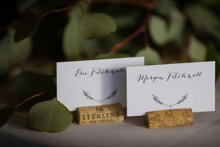 Wedding Escort Cards: Greenery Inspired Wedding at the Butler Country Club from Kristen Wynn Photography featured on Burgh Brides
