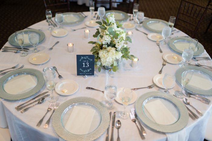 Fresh Wedding Tablescape: Greenery Inspired Wedding at the Butler Country Club from Kristen Wynn Photography featured on Burgh Brides