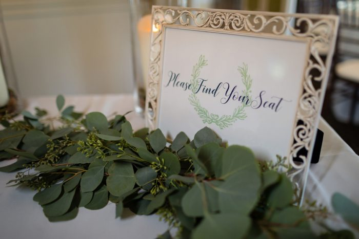 Wedding Seating Chart: Greenery Inspired Wedding at the Butler Country Club from Kristen Wynn Photography featured on Burgh Brides
