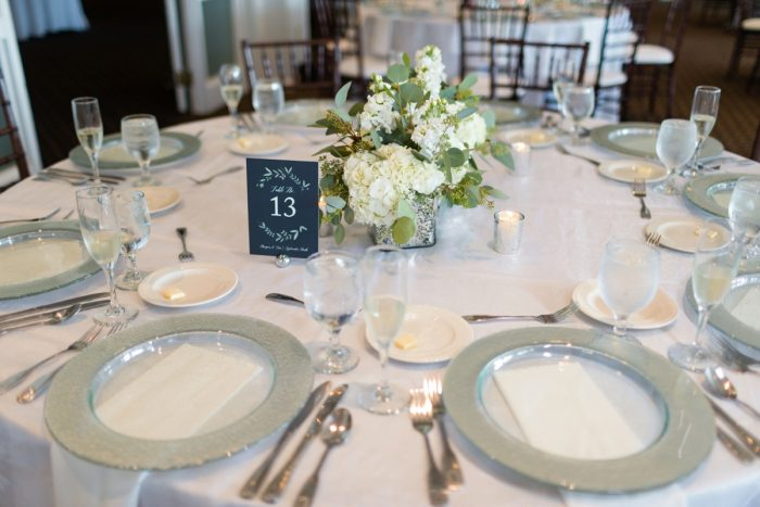 Clean Wedding Tablescape: Greenery Inspired Wedding at the Butler Country Club from Kristen Wynn Photography featured on Burgh Brides