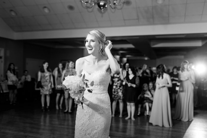 Wedding Bouquet Toss: Greenery Inspired Wedding at the Butler Country Club from Kristen Wynn Photography featured on Burgh Brides