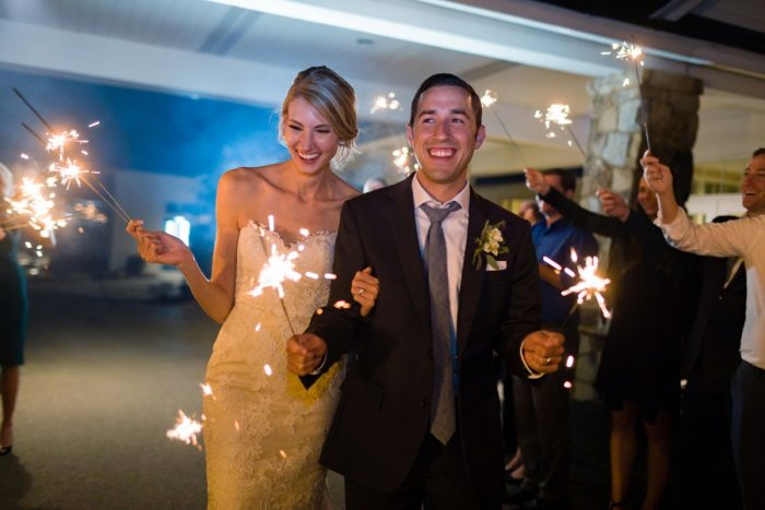 Wedding Sparkler Exit: Greenery Inspired Wedding at the Butler Country Club from Kristen Wynn Photography featured on Burgh Brides