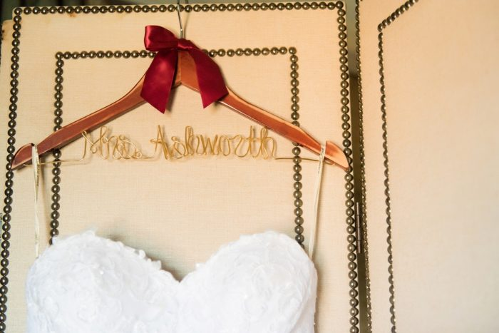 Personalized Bridal Hanger: Old World Romance Wedding at the Omni William Penn Hotel from Leeann Marie Wedding Photographers featured on Burgh Brides