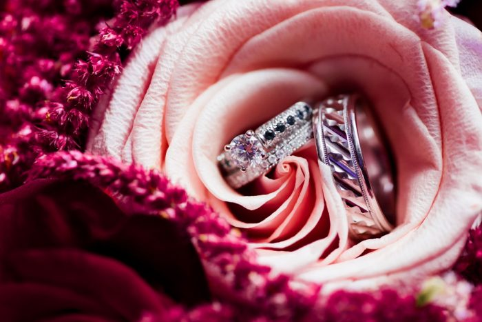 Round Diamond Engagement Ring: Old World Romance Wedding at the Omni William Penn Hotel from Leeann Marie Wedding Photographers featured on Burgh Brides