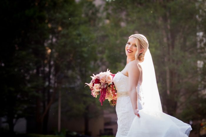 Pink and Burgundy Bridal Bouquet: Old World Romance Wedding at the Omni William Penn Hotel from Leeann Marie Wedding Photographers featured on Burgh Brides