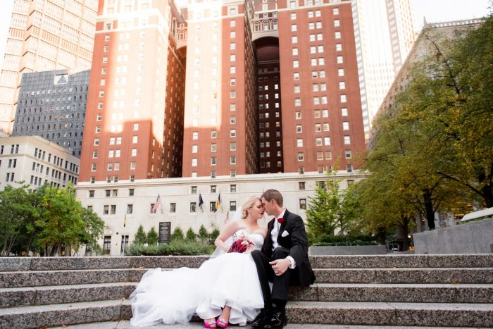 Downtown Pittsburgh Wedding Portraits: Old World Romance Wedding at the Omni William Penn Hotel from Leeann Marie Wedding Photographers featured on Burgh Brides