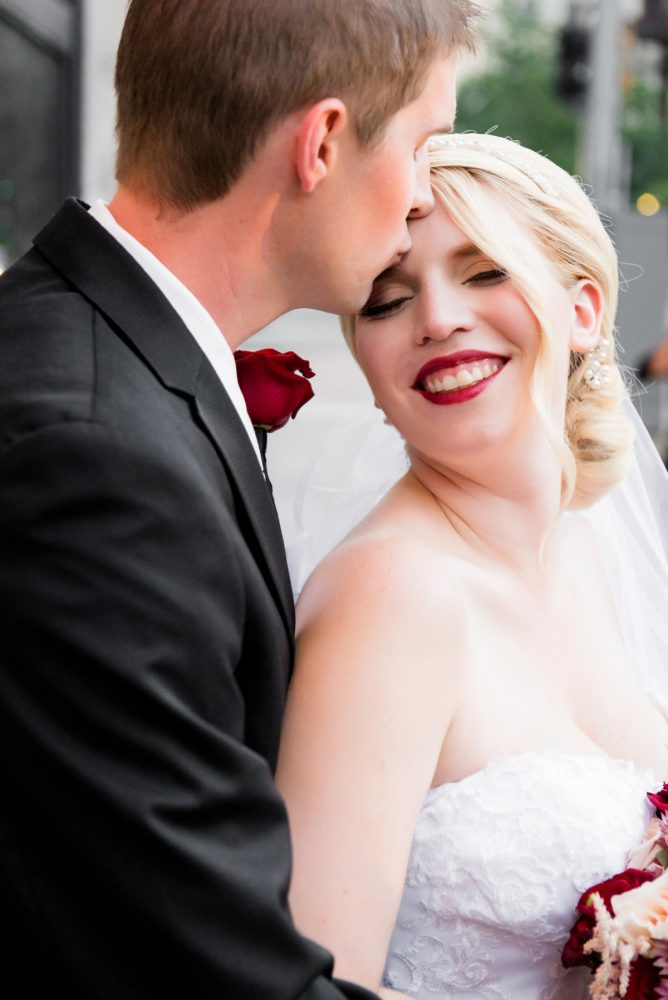 Dramatic Bridal Makeup: Old World Romance Wedding at the Omni William Penn Hotel from Leeann Marie Wedding Photographers featured on Burgh Brides