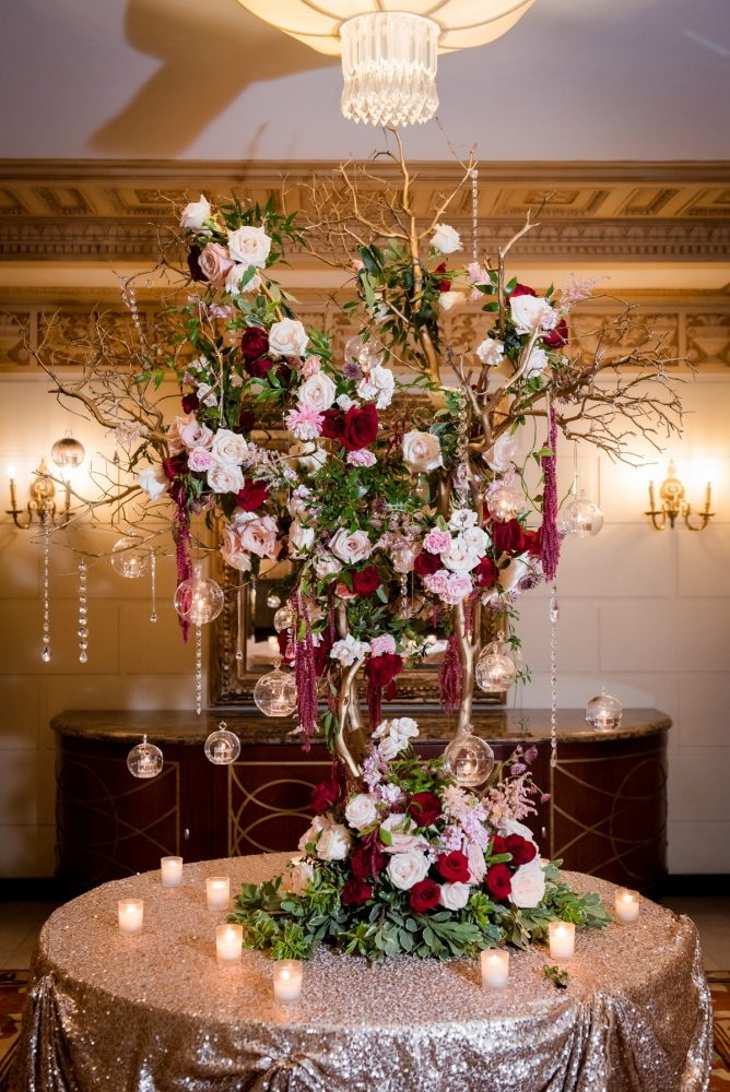 Statement Wedding Escort Card Display: Old World Romance Wedding at the Omni William Penn Hotel from Leeann Marie Wedding Photographers featured on Burgh Brides