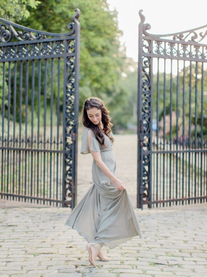 Romantic Summer Engagement Session from Anna Laero Photography featured on Burgh Brides