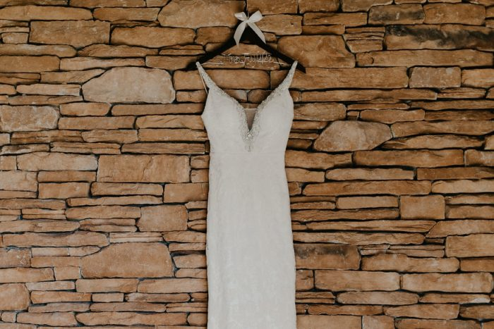 Wooden Bridal Hanger: Rustic Modern Wedding at Nemacolin from David McCandless Photography featured on Burgh Brides
