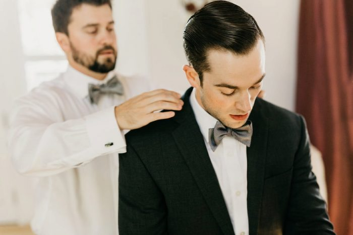 Groom Getting Ready: Rustic Modern Wedding at Nemacolin from David McCandless Photography featured on Burgh Brides