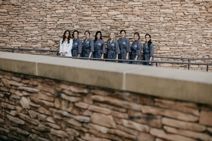 Matching Bridesmaids Robes: Rustic Modern Wedding at Nemacolin from David McCandless Photography featured on Burgh Brides