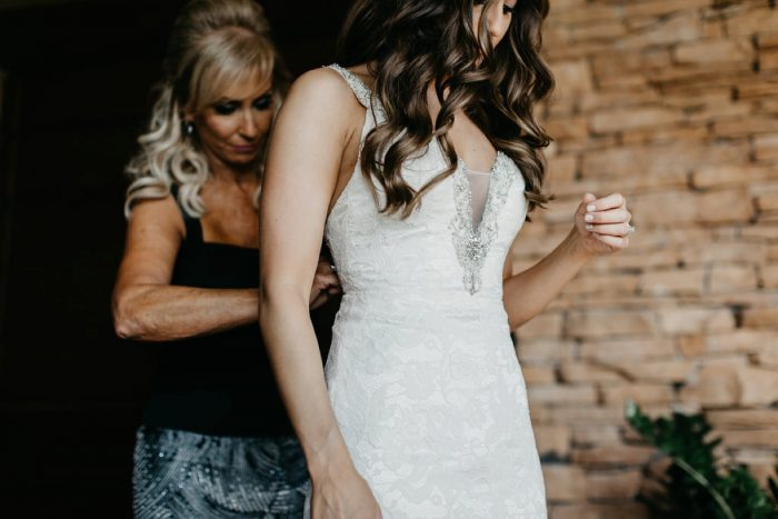 Beaded Lace Sheath Wedding Dress: Rustic Modern Wedding at Nemacolin from David McCandless Photography featured on Burgh Brides
