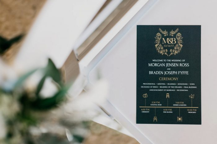 Wedding Ceremony Program Ideas: Rustic Modern Wedding at Nemacolin from David McCandless Photography featured on Burgh Brides