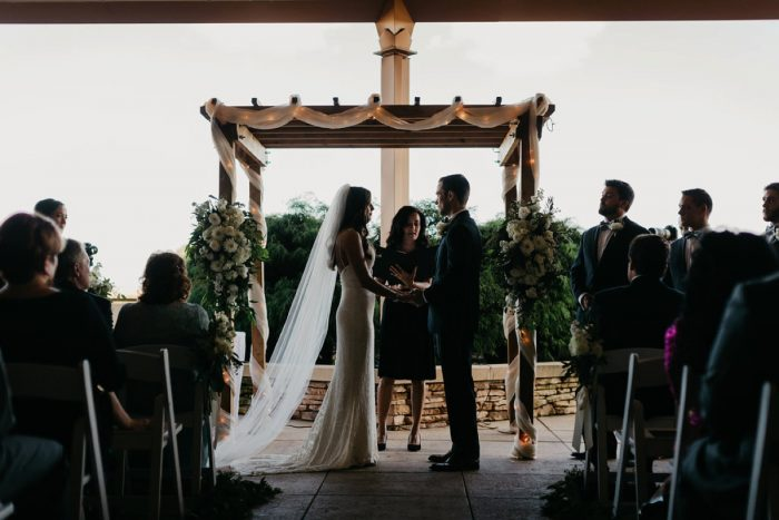 Rustic Wedding Ceremony: Rustic Modern Wedding at Nemacolin from David McCandless Photography featured on Burgh Brides