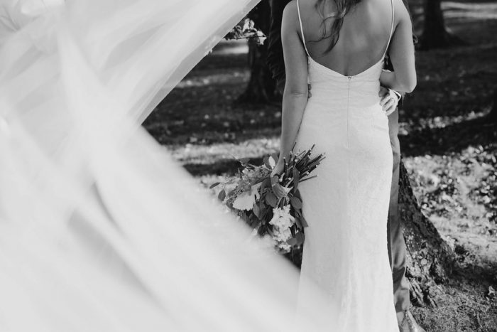 Bridal Veil Photo: Rustic Modern Wedding at Nemacolin from David McCandless Photography featured on Burgh Brides