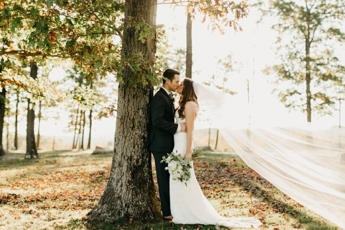 Woodsy Wedding Photos: Rustic Modern Wedding at Nemacolin from David McCandless Photography featured on Burgh Brides