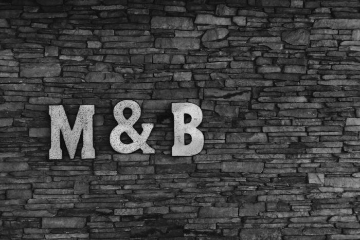 Wedding Monogram Sign: Rustic Modern Wedding at Nemacolin from David McCandless Photography featured on Burgh Brides
