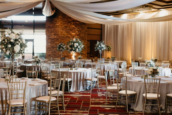 White Wedding Reception Draping: Rustic Modern Wedding at Nemacolin from David McCandless Photography featured on Burgh Brides