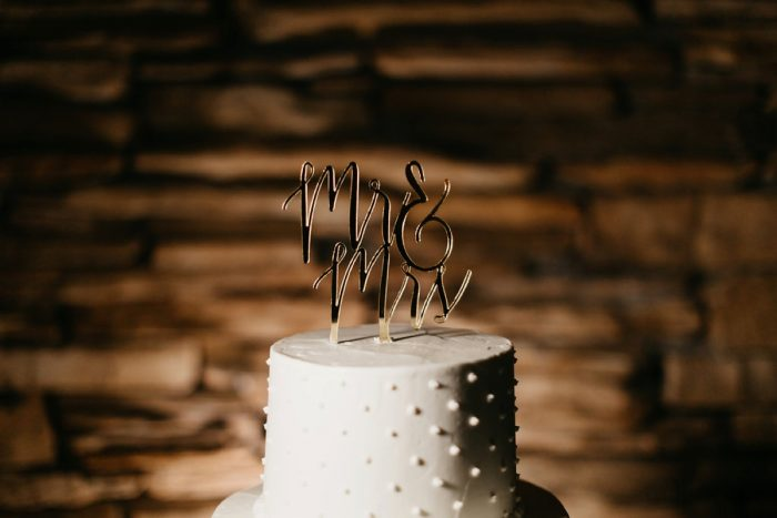 Wedding Cake Topper: Rustic Modern Wedding at Nemacolin from David McCandless Photography featured on Burgh Brides