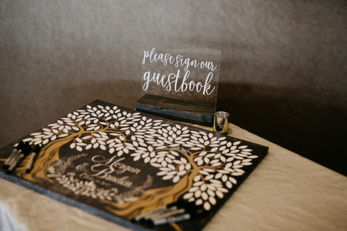 Wedding Guest Book: Rustic Modern Wedding at Nemacolin from David McCandless Photography featured on Burgh Brides