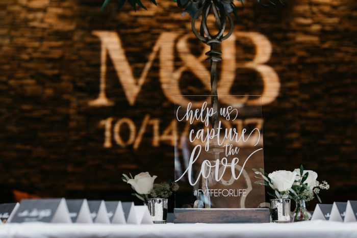 Acrylic Wedding Signs: Rustic Modern Wedding at Nemacolin from David McCandless Photography featured on Burgh Brides