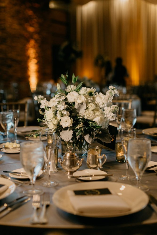 White Wedding Flowers: Rustic Modern Wedding at Nemacolin from David McCandless Photography featured on Burgh Brides