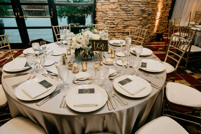 Clean Wedding Tablescape: Rustic Modern Wedding at Nemacolin from David McCandless Photography featured on Burgh Brides