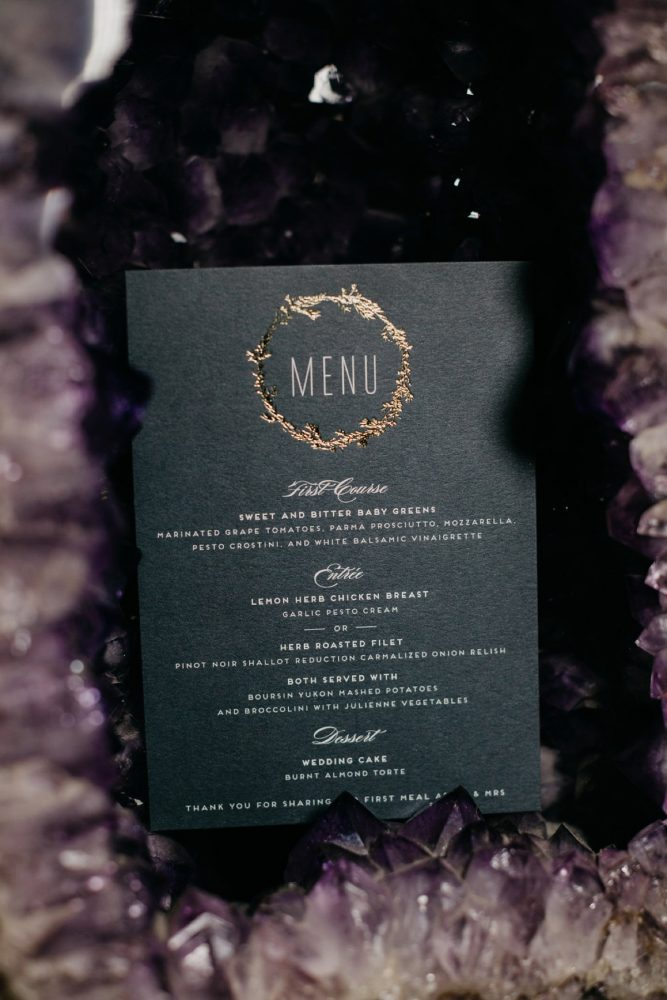 Wedding Menu Cards: Rustic Modern Wedding at Nemacolin from David McCandless Photography featured on Burgh Brides