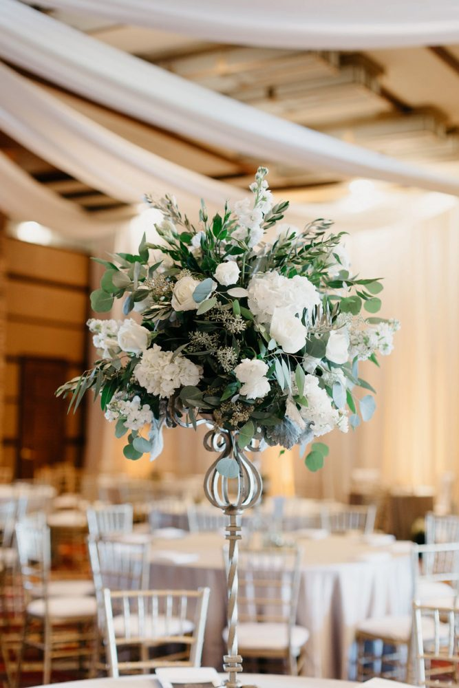 White and Green Wedding Flowers: Rustic Modern Wedding at Nemacolin from David McCandless Photography featured on Burgh Brides
