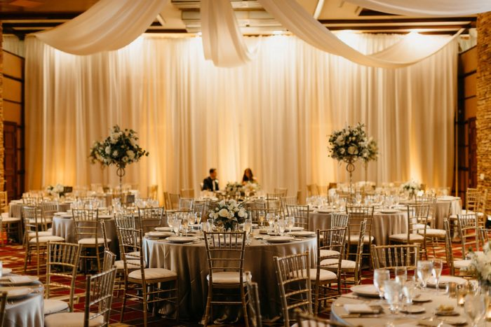Wedding Reception Draping: Rustic Modern Wedding at Nemacolin from David McCandless Photography featured on Burgh Brides